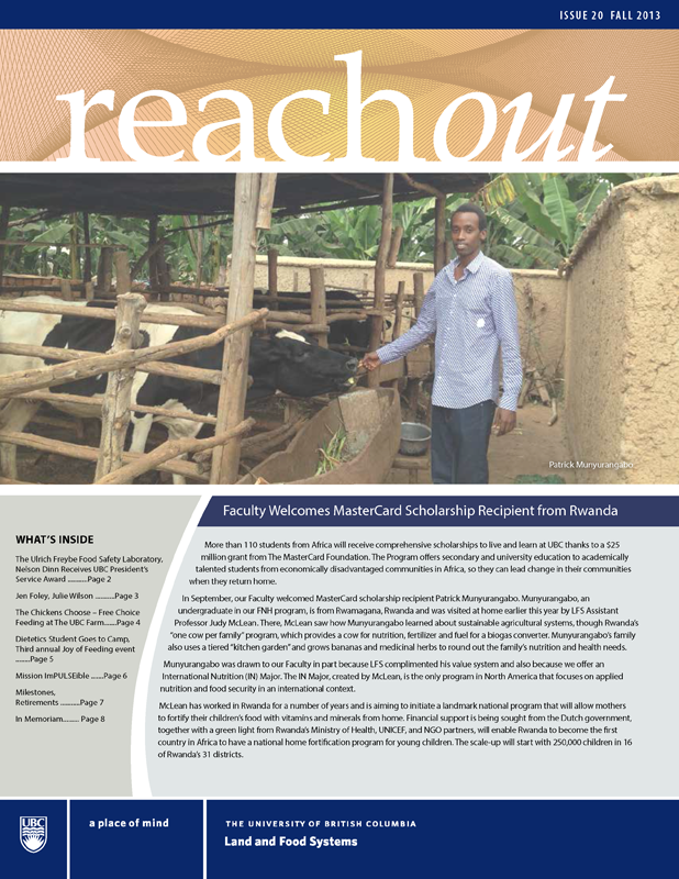 Reach Out Issue 20 Fall 2013