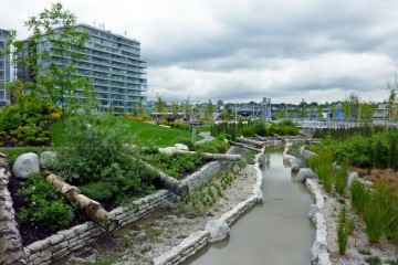 Stormwater retention at Olympic Village, Vancouver. (Photo: Payton Chung, Flickr Creative Commons)